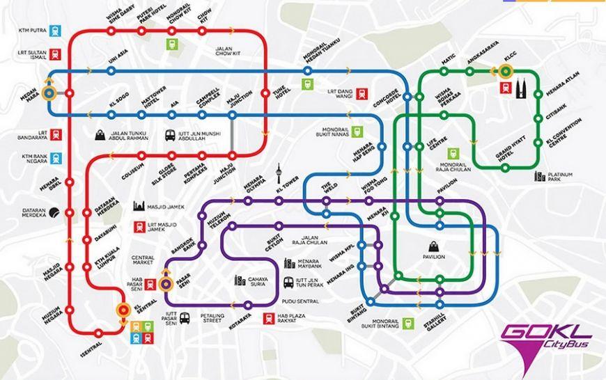Карта движения автобусов GO KL